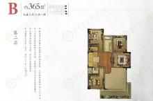 别墅365㎡第二层