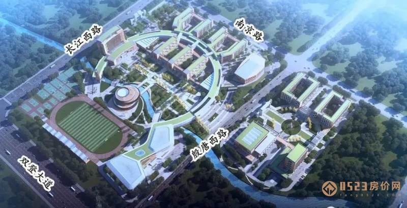 姜堰中学西校区效果图