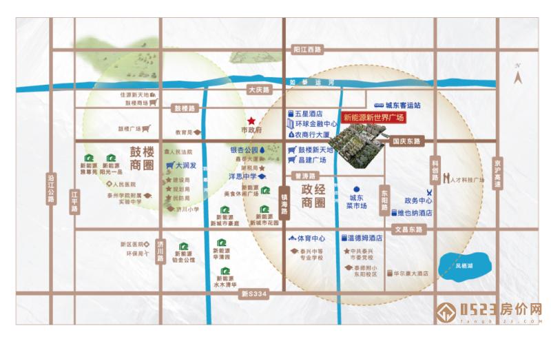 新能源新世界广场春溪苑区位图