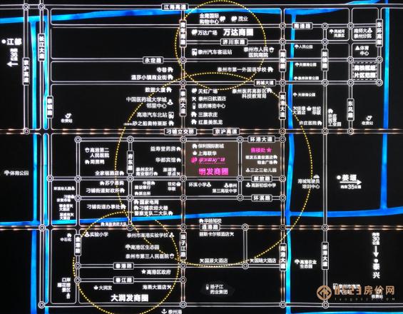 泰州明发国际广场区位图